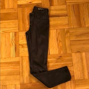 Black textured BLANK NYC jeggings